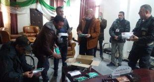 توزيع كمامات وقائية من قبل السلطات المحلية و الجمعية المشرفة على صنعها