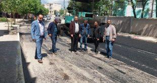 خرجة ميدانية للوقاف على أشغال مشروع تهيئة طريق الشارع الرئيسي