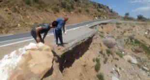إنزلاق على مستوى الطريق الوطني رقم 77 في شقة ببلدية عين السبت يهدد بشكل خطير مستعمليه