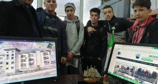 زيارة ميدانية لتلاميذ متوسطة الطيب العقبي، لمقر بلدية عين السبت